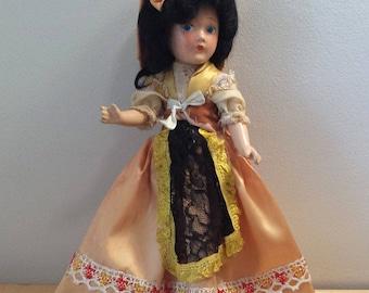 Dream World Composition Doll, 11 inch tall vintage International Doll