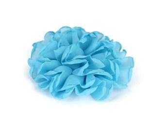 Blue Dog Collar Flower, Blue Collar Flower Attachment, Blue Collar Flower Add On, Blue Collar Flower Accessory, Dog Collar Flower