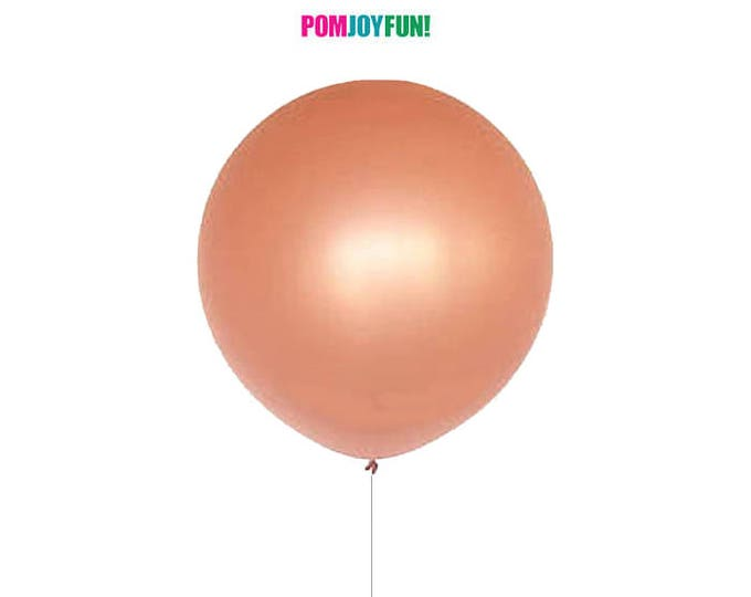 "Rose Gold Balloon 30"", Round Rose Gold Balloon, Giant Round 30 inch Rose Gold Balloon, Huge Rose Gold Balloon, Rose Gold Decor"