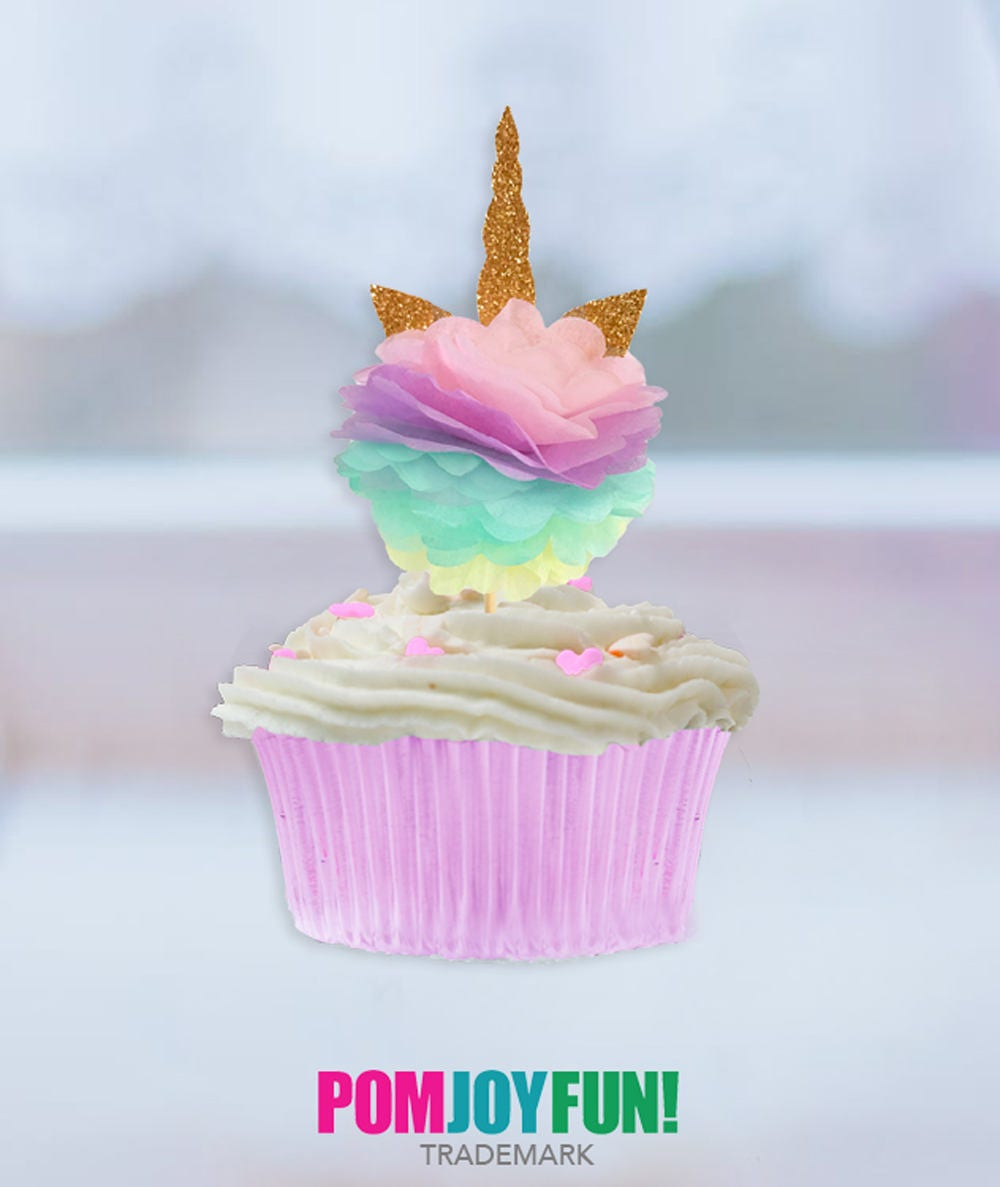 Unicorn Cupcake Toppers Unicorn Party Unicorn Birthday