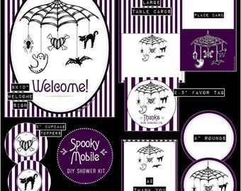 Spooky Mobile // Gender Neutral Baby Shower DIY Kit