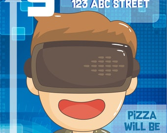 Virtual Reality Birthday Invitation for your Gamer