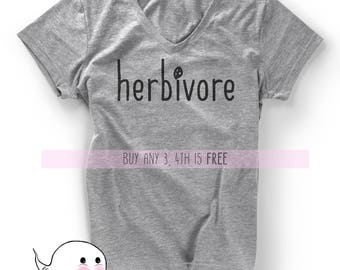 Herbivore Shirt T-Shirt Tee Mens Ladies Womens Birthday Gift Present Vegetarian Plant Food Vegan Organic Green Eater Save Animals Girlfriend
