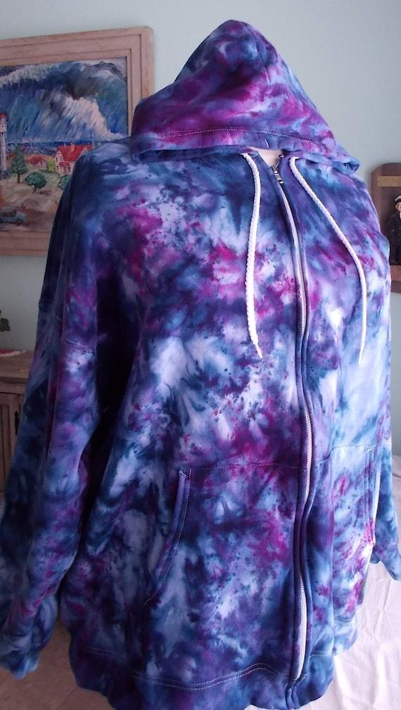Ice Dye Tie Dye 3XL Zip Hoodie