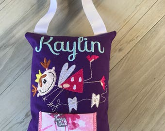 Personalized Tooth Fairy Pillow Australia baby tooth Tooth Pocket birthday gift