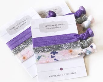Ultra Violet Wedding Shower Favors, Unique Bridal Shower Favor, Ultra Violet Bridal Shower Supplies, Bachelorette Party Hair Ties, Hair Ties