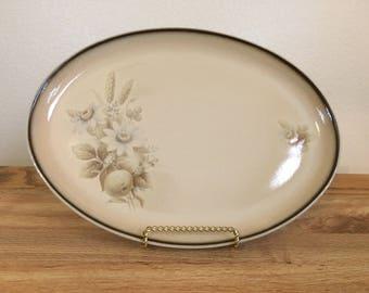 Vintage Denby England Stoneware Memories Oval Serving Platter 1980s