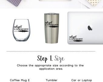 Nelipot - one who walks barefoot  - Vinyl Decal, Coffee Mug Decal Wine Glass Decal Tumbler Decal Window Decal Laptop Decal