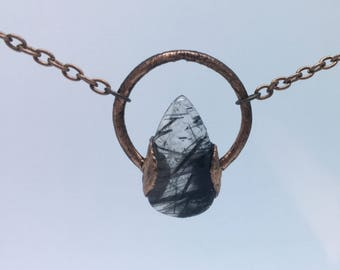 Black Rutilated Quartz Necklace