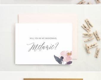 Ask Bridesmaid Card. Proposal Card. Bridesmaid Ask Card. MOH Card. Bridesmaid Cards. Bridesmaid Proposal Be My Maid of Honor. Will You BM03