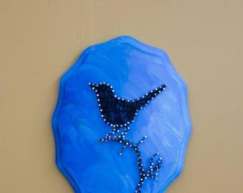 Bird Silhouette String Art
