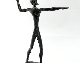 Modernist Greek bronze Hercules sculpture