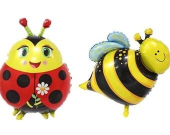 """set n. 2 Balloons """"Ladybird and Bee"""""""