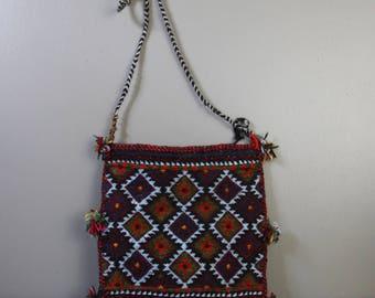 Vintage woven boho shoulder bag | boho crossbody purse | festival bag