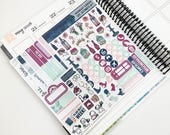 Midnight Garden // Ultimate Weekly Planner Kit (Glossy Planner Stickers)