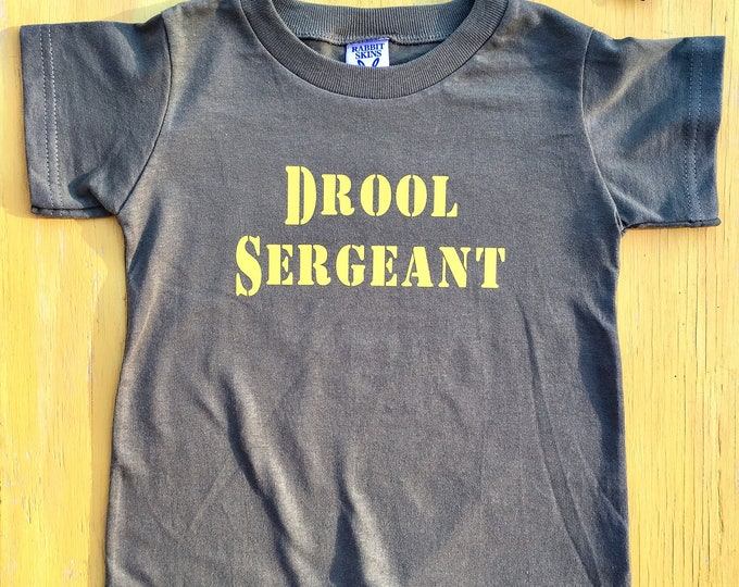 Drool Sergeant Romper // Military Onesie