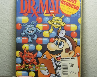 Dr. Mario - Nintendo NES - Brand New/Factory Sealed - 1990 - H-Seam - RARE