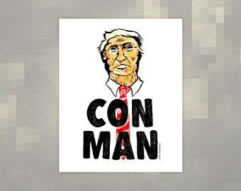 CON MAN Digital Download for Print