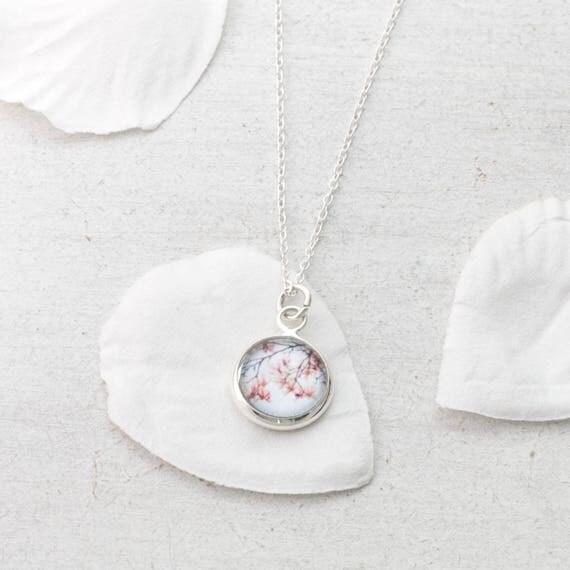Tiny Magnolia Necklace