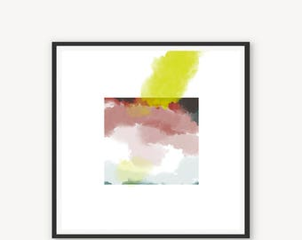 Canvas print AMBITIONS Living room art Living wall decor Modern wall accents Canvas art prints Abstract painting Abstract wall art