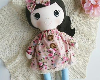 Pink Floral Rainbow Lane Doll
