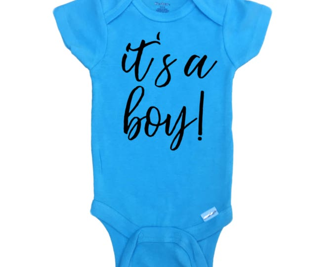 Gender Reveal baby boy Onesie® It's a Boy baby Onesie®, Photo Prop Onesie®, Gender Reveal idea, Social Media reveal, Baby Announcement, Blue