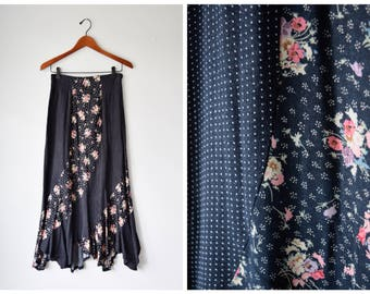 90s floral patchwork skirt   XS/S