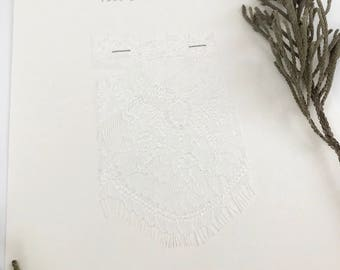 Chantilly Lace Fabric Swatch- Style 110- Bianca