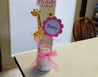 Giraffe centerpiece, Giraffe birthday, giraffe party, giraffe it's a girl, giraffe baby shower
