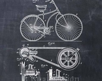 Patent Print of a Bicycle Patent Art Print Patent Poster Bike