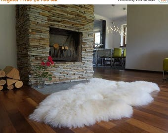 "ON SALE Original, Natural GIANT Rug Xxl 50"" x 28"" White Genuine Natural Sheepskin Rugs Exclusive Rug Area Rugs Carpet Outdoor Rugs Cheap Rug"
