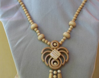 Wooden necklace .
