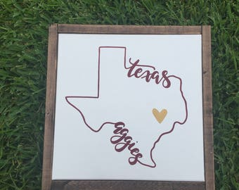 Texas aggies love sign