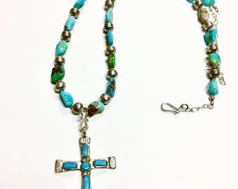Iule Turquoise Cross Necklace