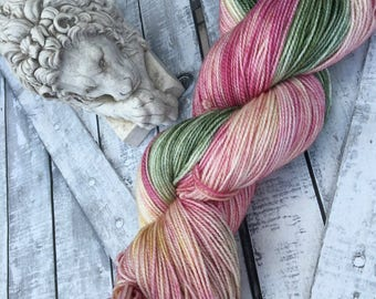 Hand Dyed Yarn, Queen Lucy the Valiant, Narnia, The Lion The Witch & the Wardrobe,Fingering Weight,Merino wool,100 gram,Toad Hollow yarns