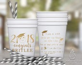 Graduation Party Favor Cups | Class of 2018 Party Cups