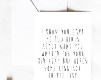 wife birthday card birthday card funny birthday card wife birthday card fiance birthday card girlfriend