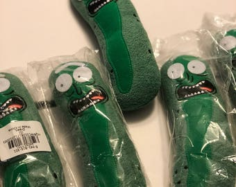 Plush Pickle Rick stuffed buddy. Rick and Morty. 7.5 inch soft squeezey pickle :)