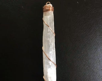 Scolecite in Copper Pendant