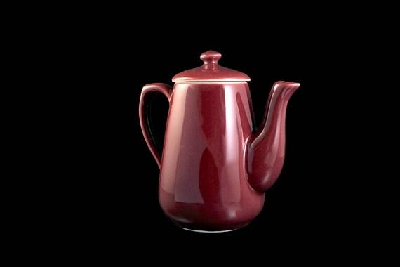 Teapot, Tea, Hall, Maroon, Individual, 2 Cups