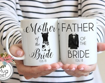 Mother & Father of the Bride Mug Set, Father of the Bride Mug, Mother of the Bride Mug, Wedding Mug, Wedding Mug Set, Couple Mug Sets
