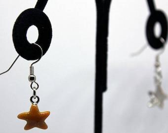 Golden Starfish Earrings