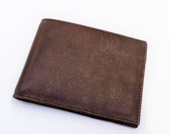 Brown leather men's wallet. Wallet leather brown