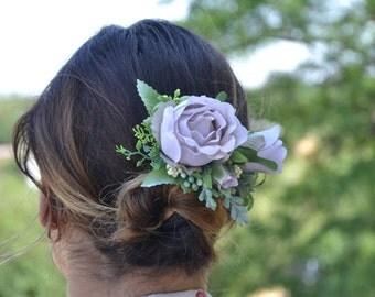 Gift/for/sister Blush Flower hair clip Summer wedding Flower hair piece Flower clip  Bridal hair clip Wedding hair piece Bridesmaid clip