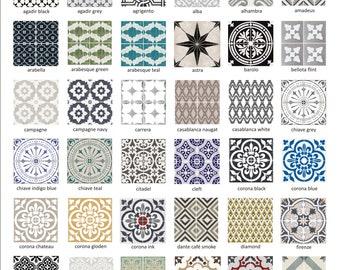 Tile Decals - Tiles for Kitchen/Bathroom Back splash - Floor decals - Vinyl Tile Sticker SAMPLES - Starting from 1.50 plus shipping