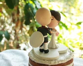 Wedding cake topper. US Marine Corps. Handmade. Fully customizable. Unique keepsake