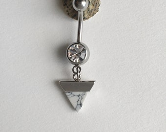 Small Triangle Belly Button Ring.