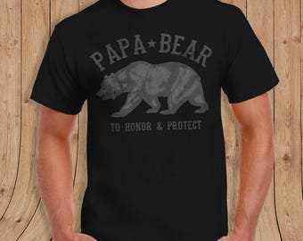 Papa Bear T-shirt - Dad Shirt - Gift for Dads