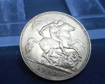 1925 King George V British Half Sovereign 22k Gold Coin