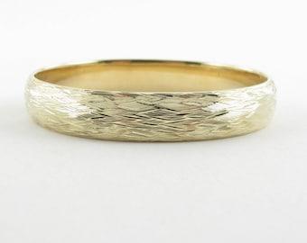 "Vintage 14K Yellow Gold Tiffany & Co Bangle Bracelet 7"" 25.3 grams"